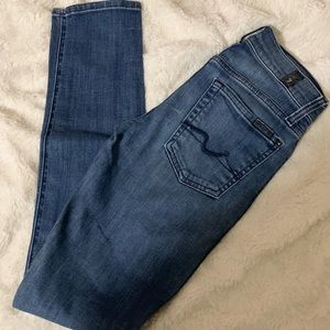 7 for Mankind skinny jeans, guenevere fit size 24